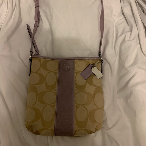 Coach Handbags - Light purple & tan Coach purse